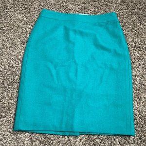 Jcrew pencil skirt green emerald size 2